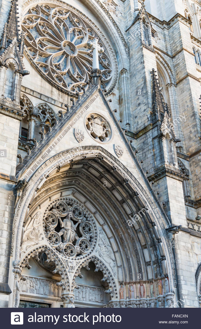 The Cathedral of St. John the Divine, officially named Cathedral Church of Saint John: The Great Divine in the City - Stock Image