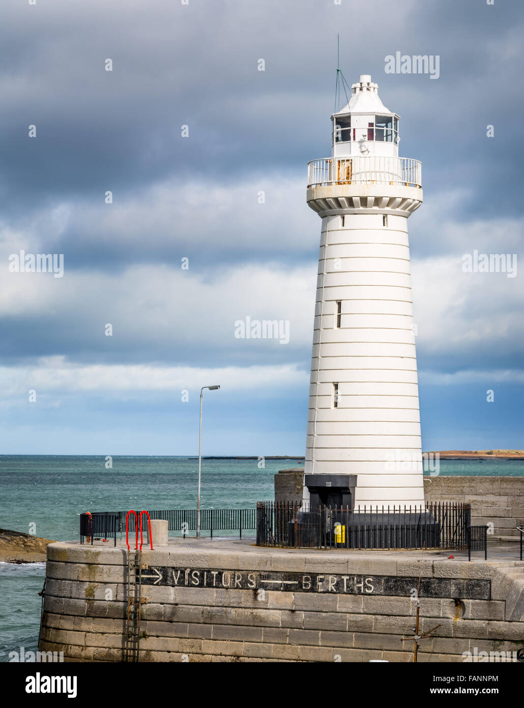 Donaghadee Lighthouse situated on the North East coastline of Ireland N.Ireland - Stock Image