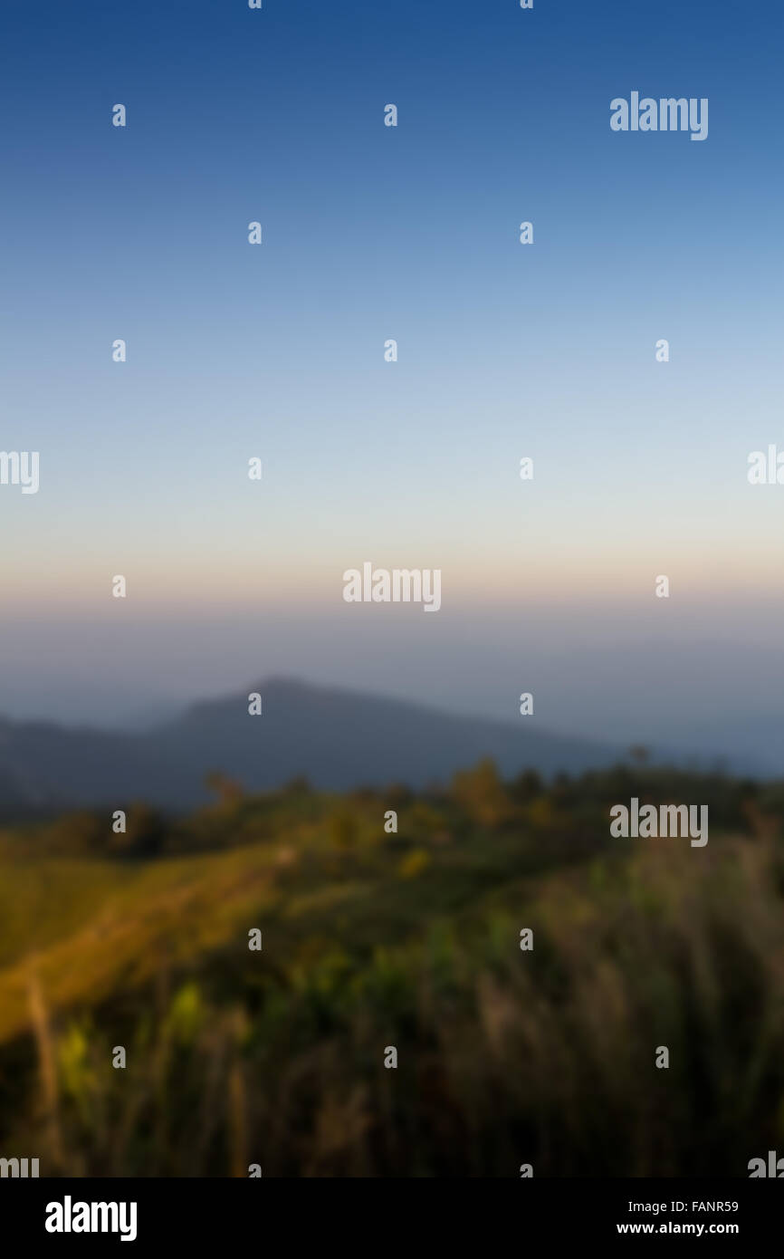 mountain blurred background - Stock Image