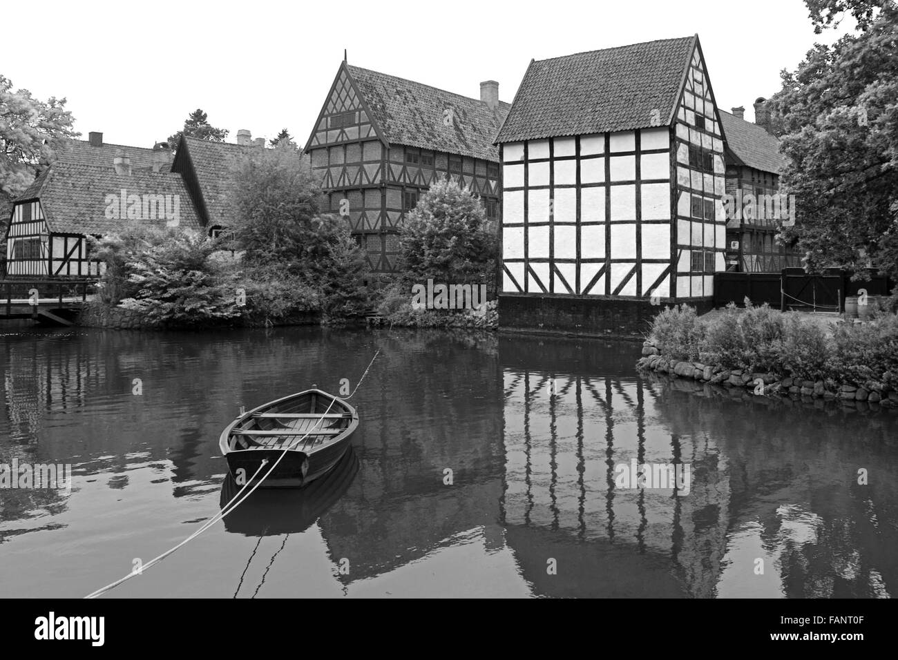 Den Gamle By - The Old Town in Aarhus, Denmark, is an open-air town museum. - Stock Image