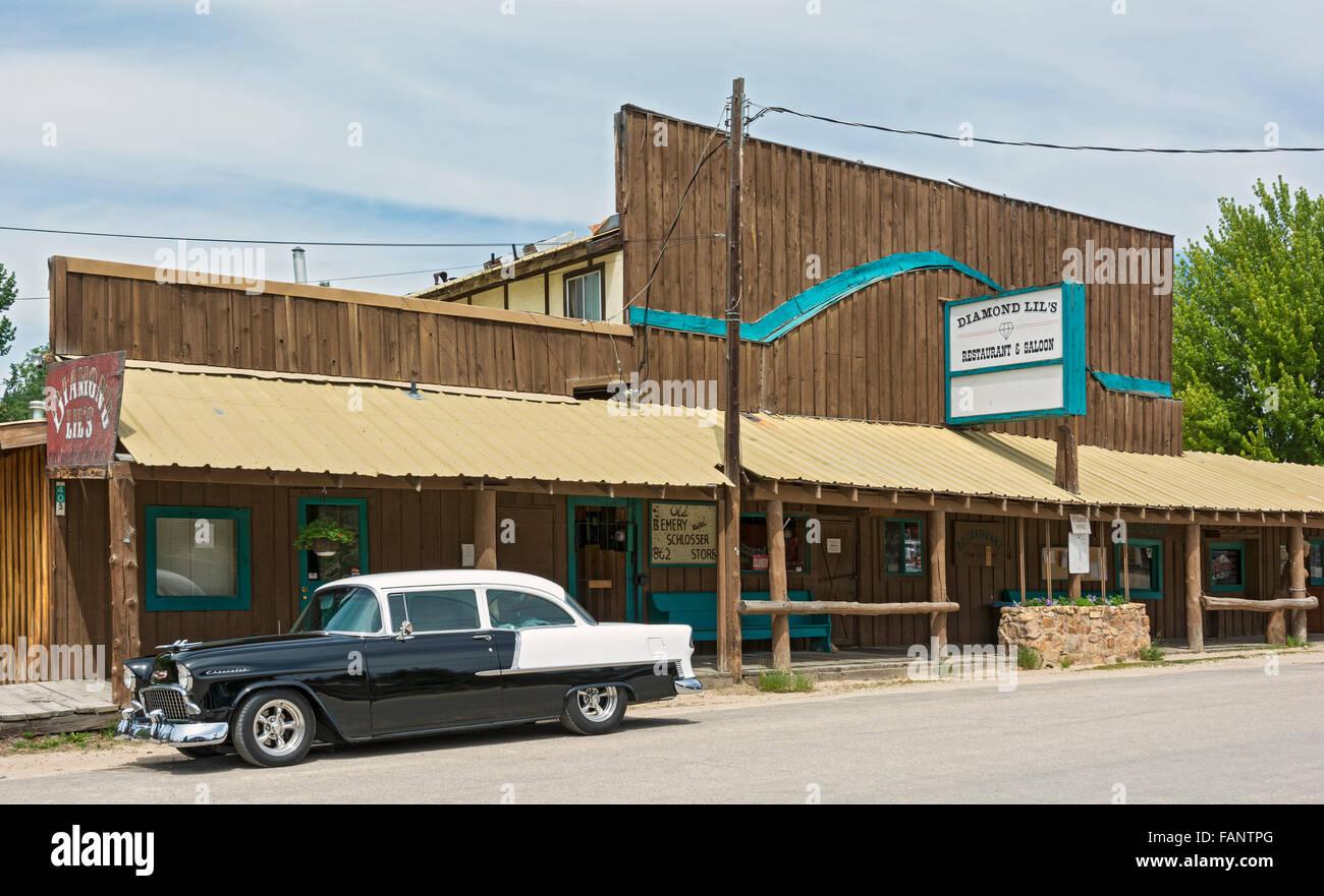 Idaho, Idaho City Historic District, Diamond Lil's Restaurant & Saloon - Stock Image