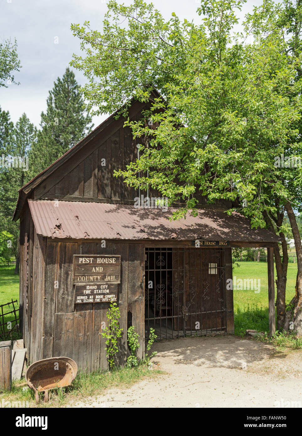 Idaho, Idaho City Historic District, Pest House, from pestilence, housed indigent citizens with contagious diseases - Stock Image