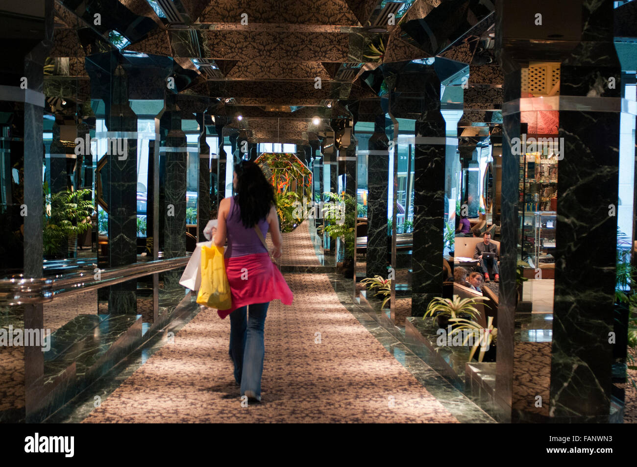 One Un New York Millennium Hotel Entrance And Galleries One Un New Stock Photo Alamy