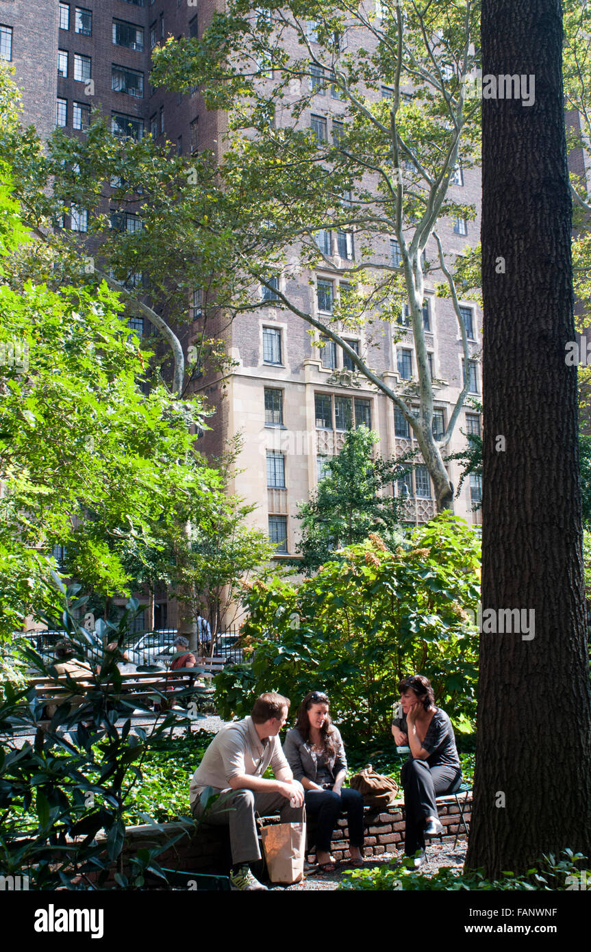 Dag Hammarskjold Plaza, park at the East end of 47th Street near United Nations building, place for rallies and - Stock Image