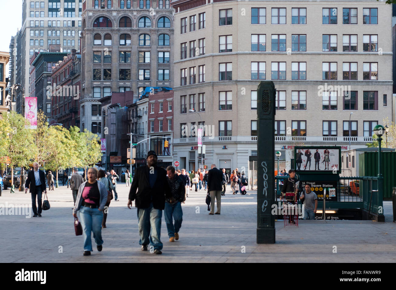 NEW YORK, Union Square. Between the 14th and 17th and between Union Square West and East. They started calling joined - Stock Image