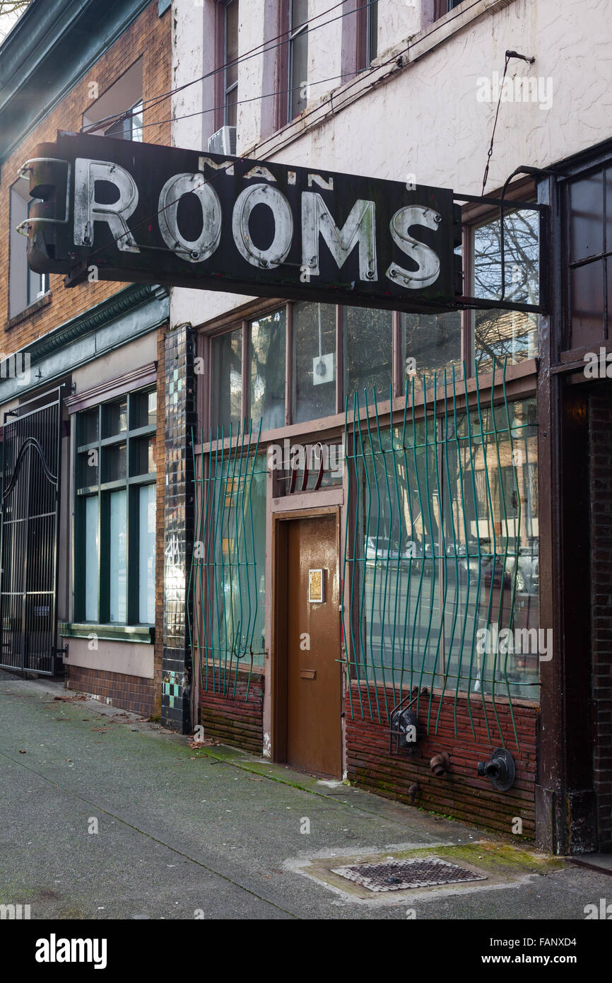 Rooms available in the downtown east-side of Vancouver, Canada - Stock Image