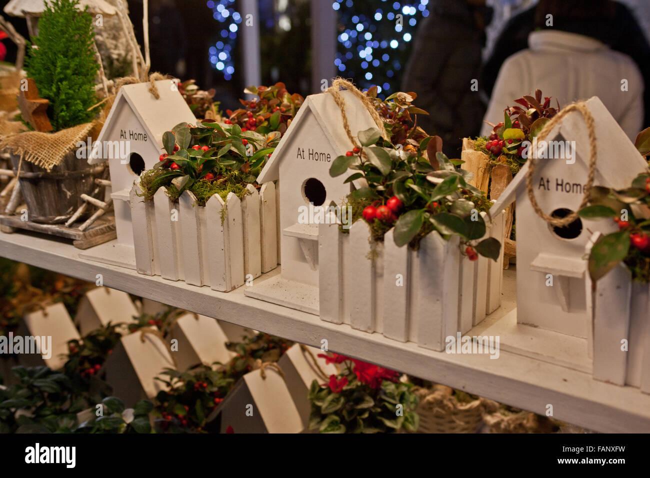 Christmas markets at Verona 25 december 2015 - Stock Image