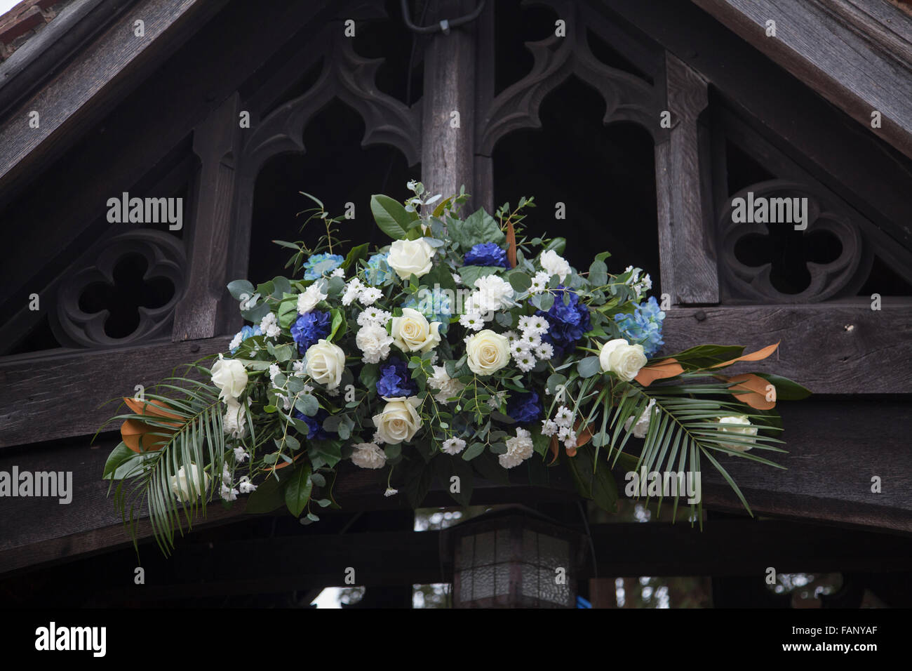 Blue and white wedding day flowers wedding flowers dressing a blue and white wedding day flowers wedding flowers dressing a church in england izmirmasajfo