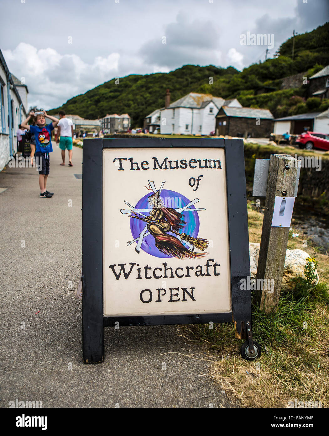 The Museum of Witchcraft in Boscastle, Cornwall - Stock Image