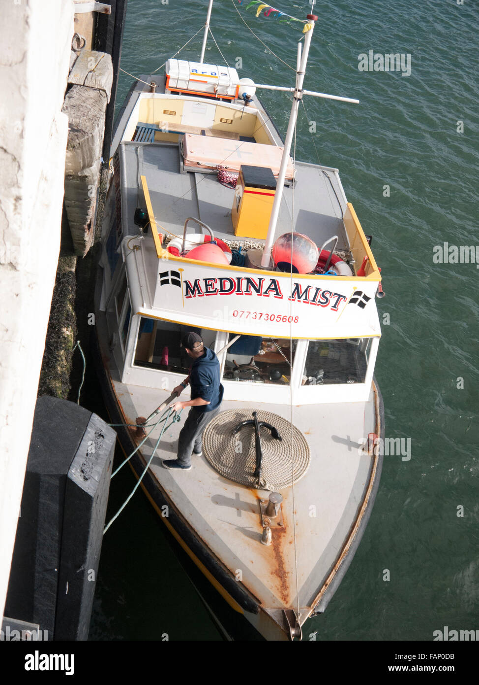 Sightseeing pleasure cruise, boat trip, Medina Mist, Falmouth harbour