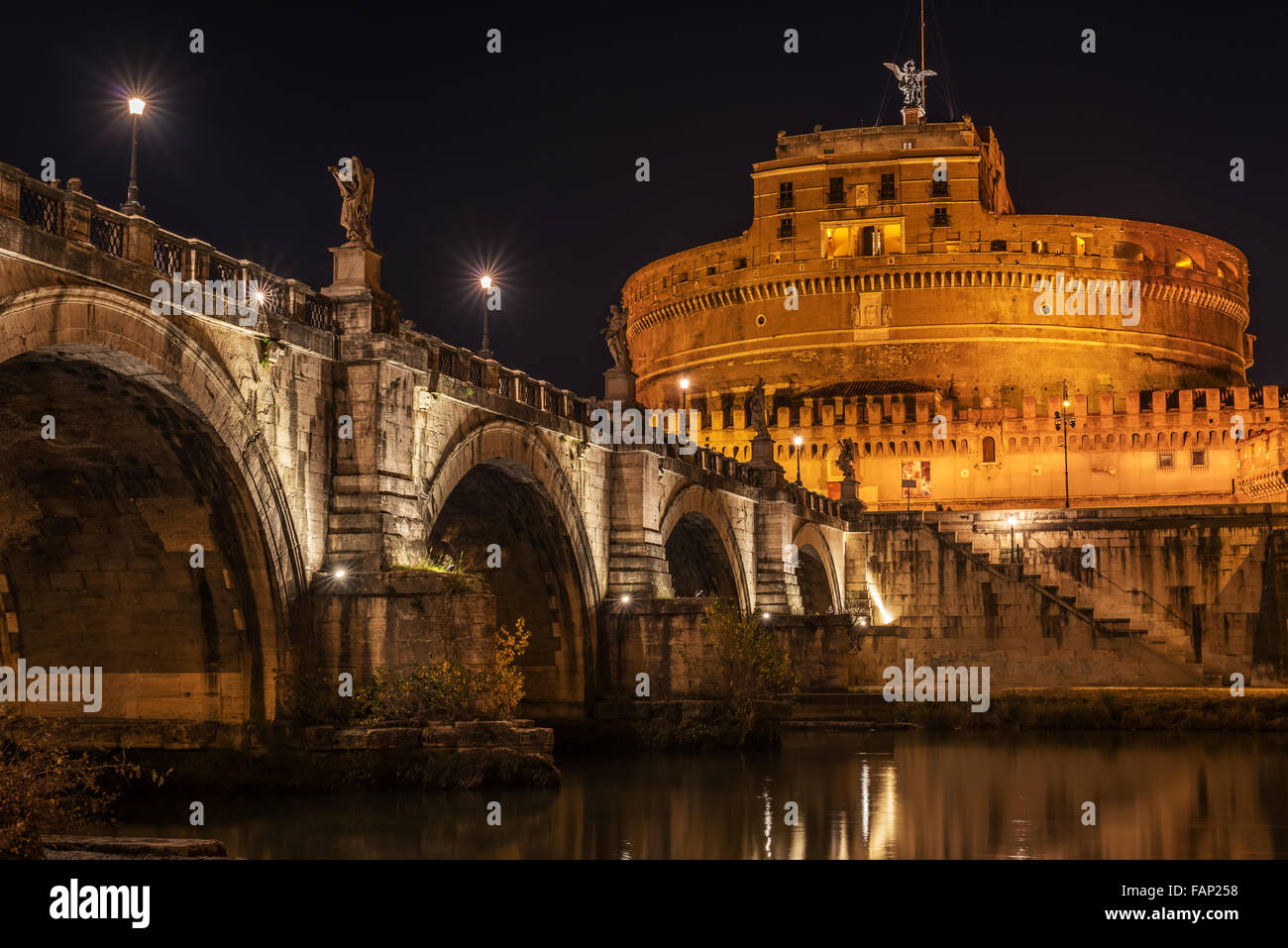 Rome, Italy: Hadrian's Mausoleum or Castle of  Holy Angel - Stock Image