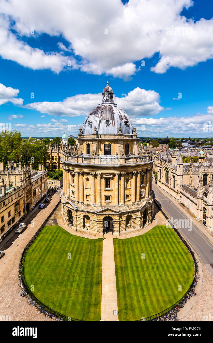 The Bodleian Librar the main research library of the University of Oxford, is one of the oldest libraries in Europe, - Stock Image
