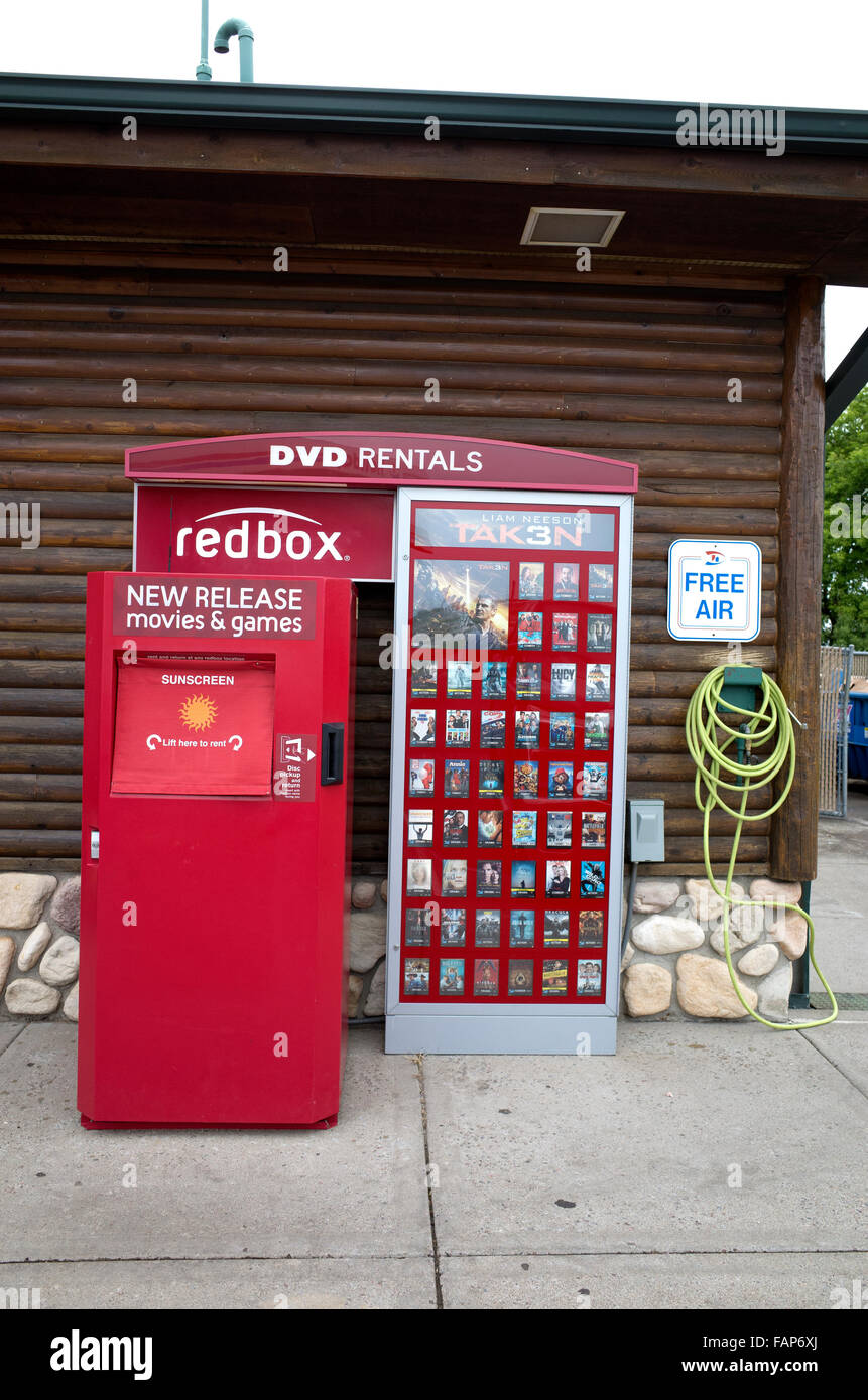 Redbox DVD movie and game rental automated vending machine ...