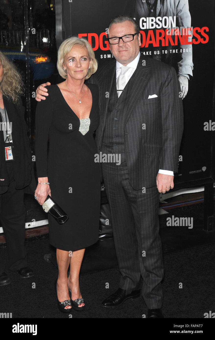 Ray Winstone With His Wife Elaine Winstone Stock Photos