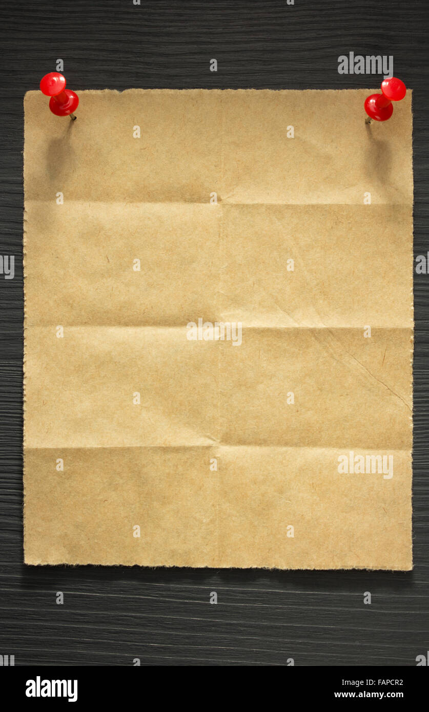 folded note paper on wooden background stock photo 92691398 alamy