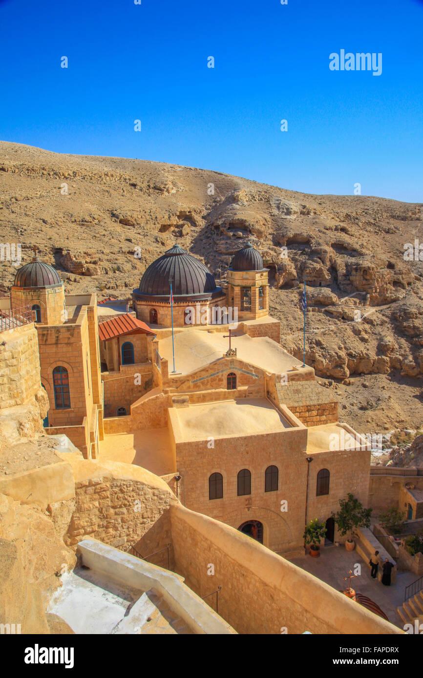 Domes in the Mar saba Greek orthodox monastery - Stock Image