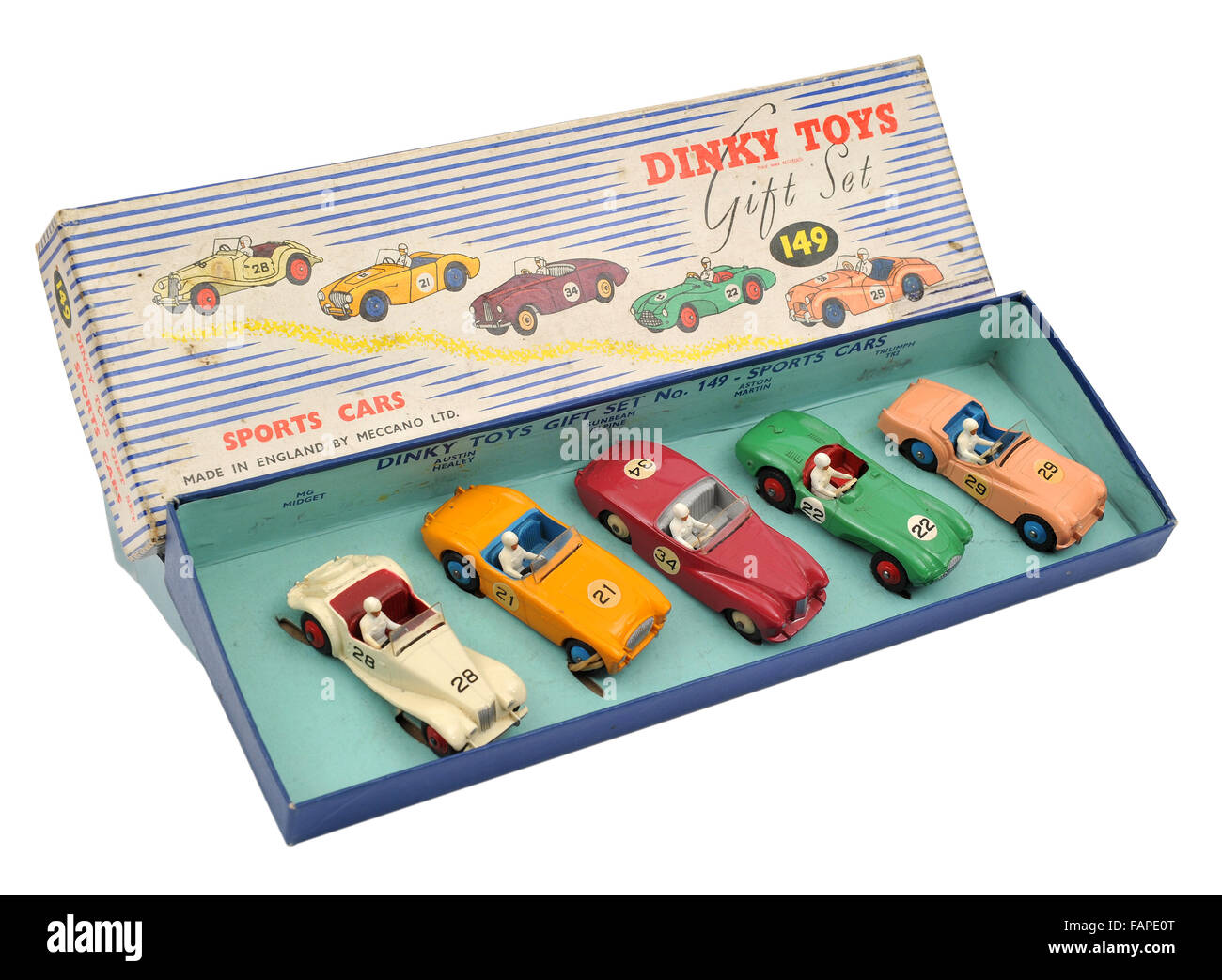 Children's Dinky Toys 149 Sports Cars Gift Set - Stock Image
