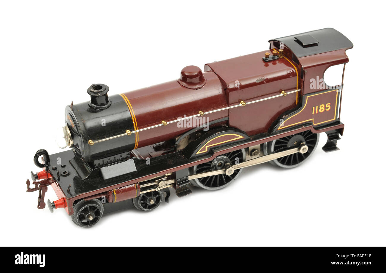 Children's Hornby steam locomotive toy - Stock Image