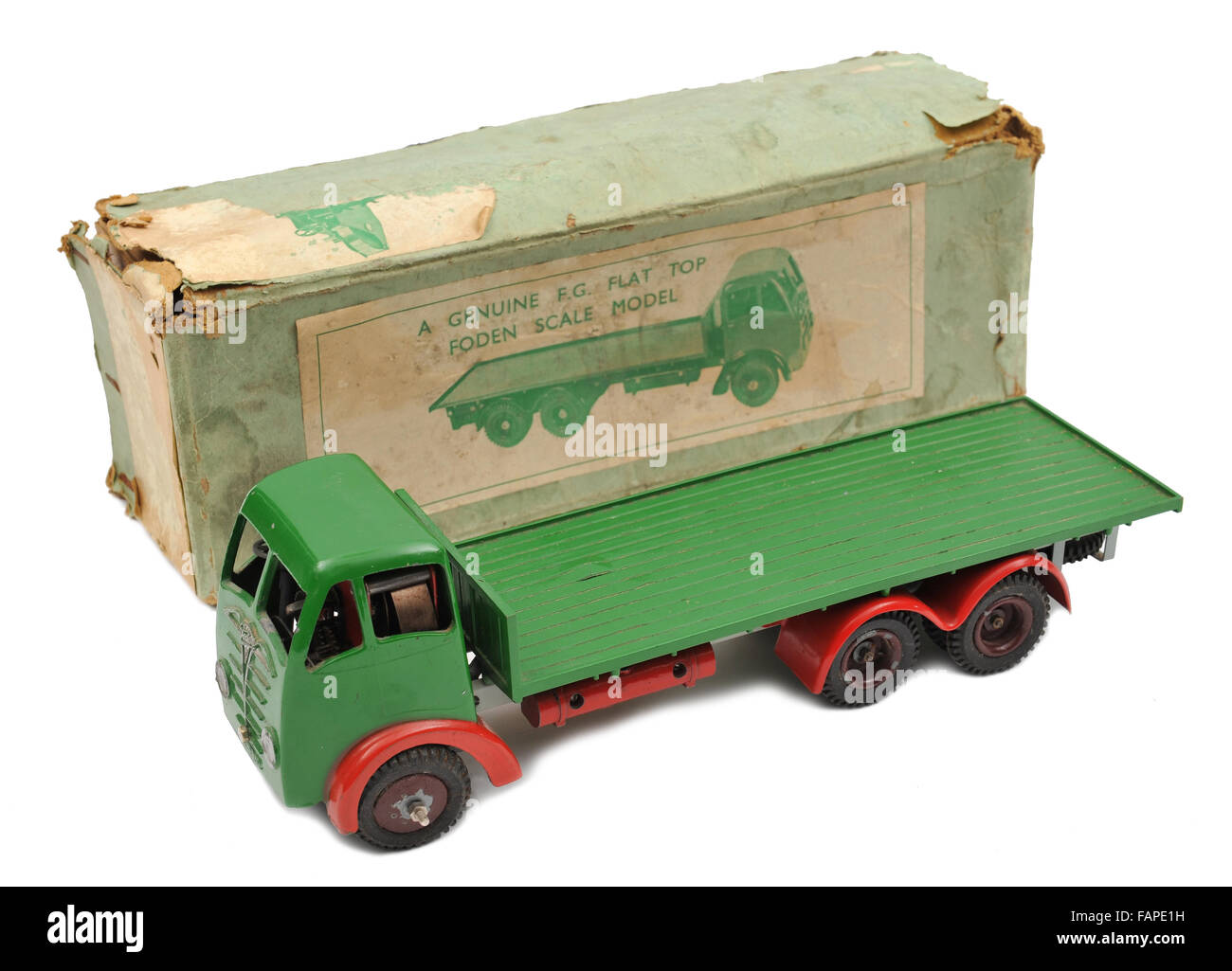 Childrens Foden scale model flat top lorry with box - Stock Image