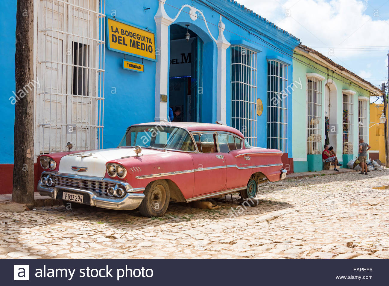 La Bodeguita del Medio in Trinidad,Cuba. The landmark is a popular bar and restaurant in the Unesco World Heritage - Stock Image
