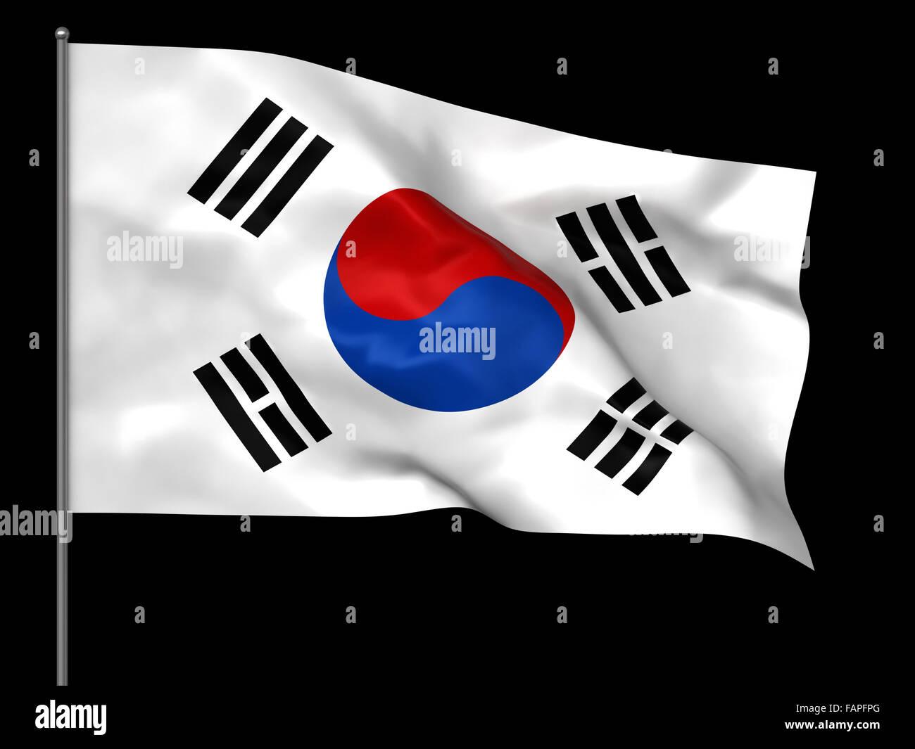 south korean flag stock photos south korean flag stock images alamy
