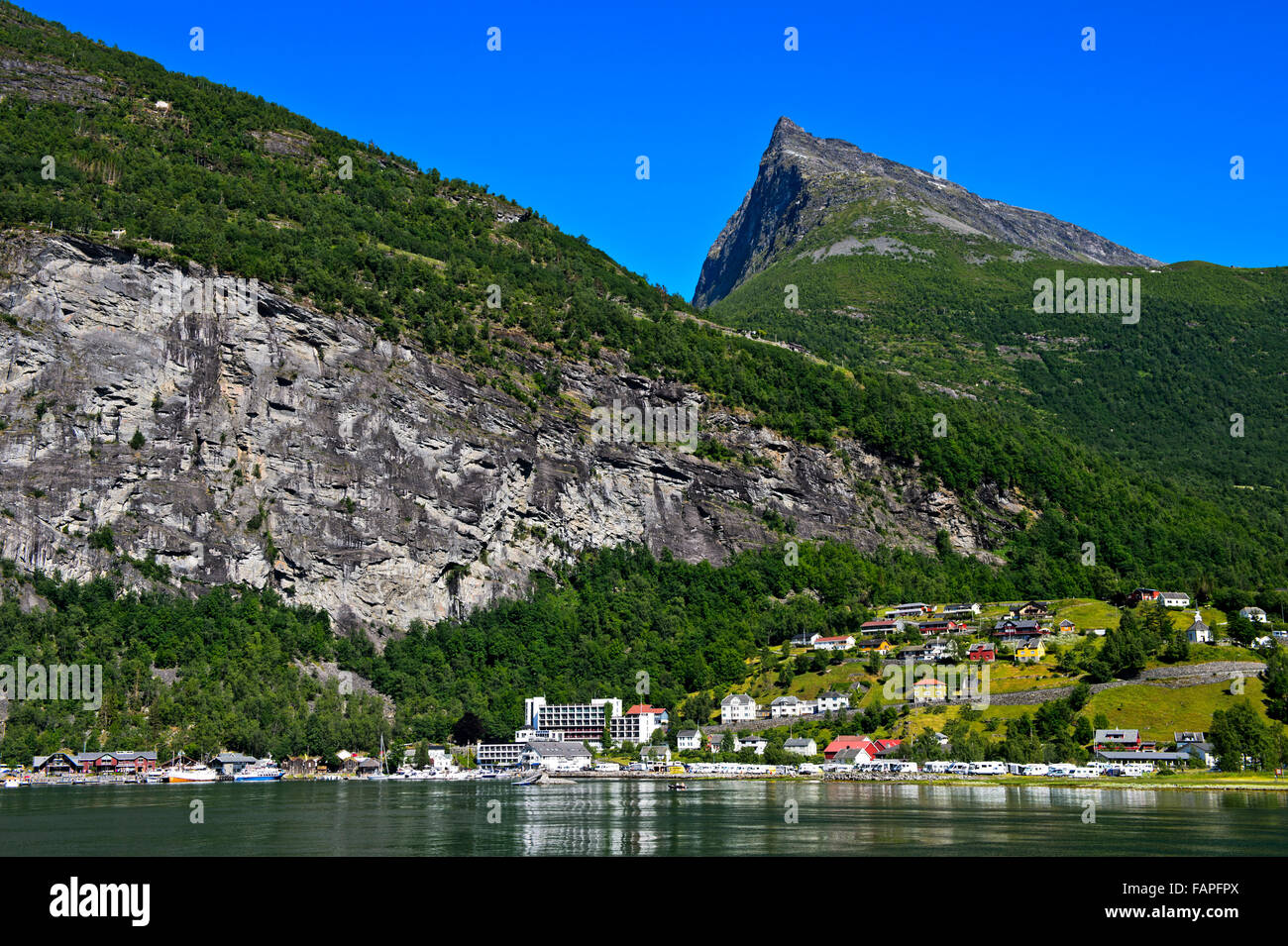 Municipality Of Geiranger With Hotel Geiranger In The Unesco
