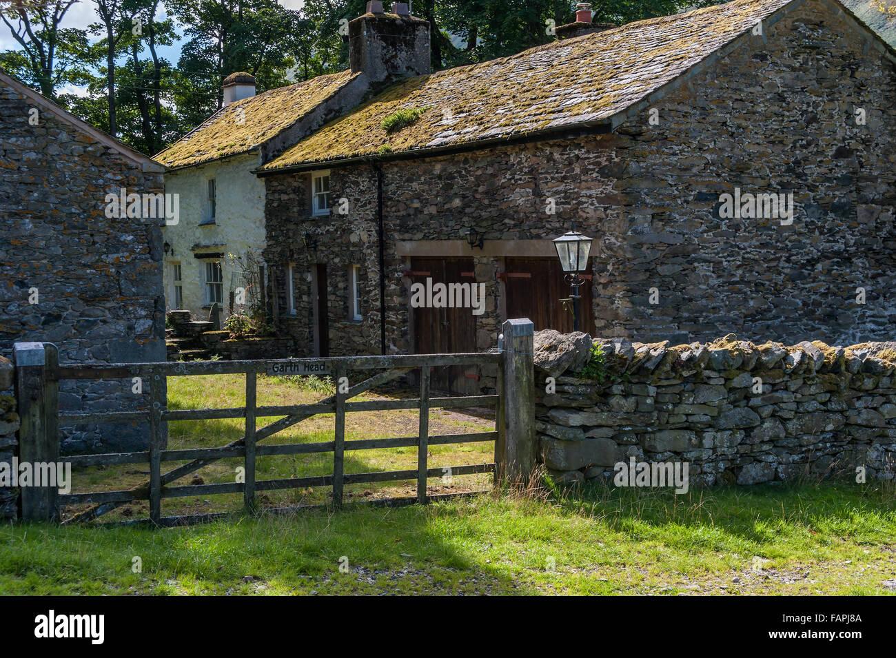 Garth Head Farm in Boredale The Lake District Stock Photo