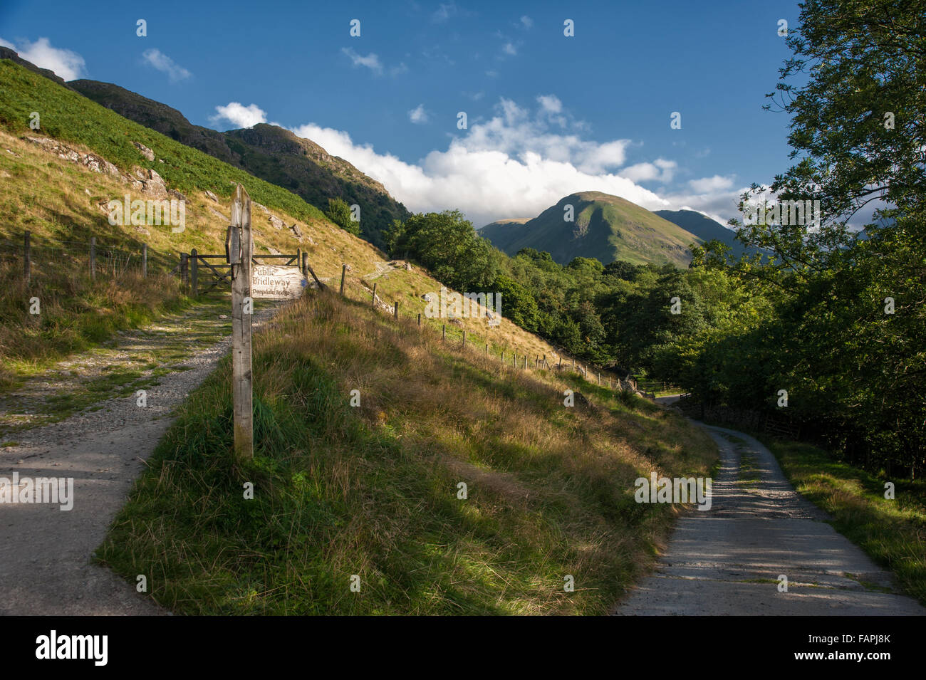 The Patterdale to Hartsop footpath in Cumbria - Stock Image