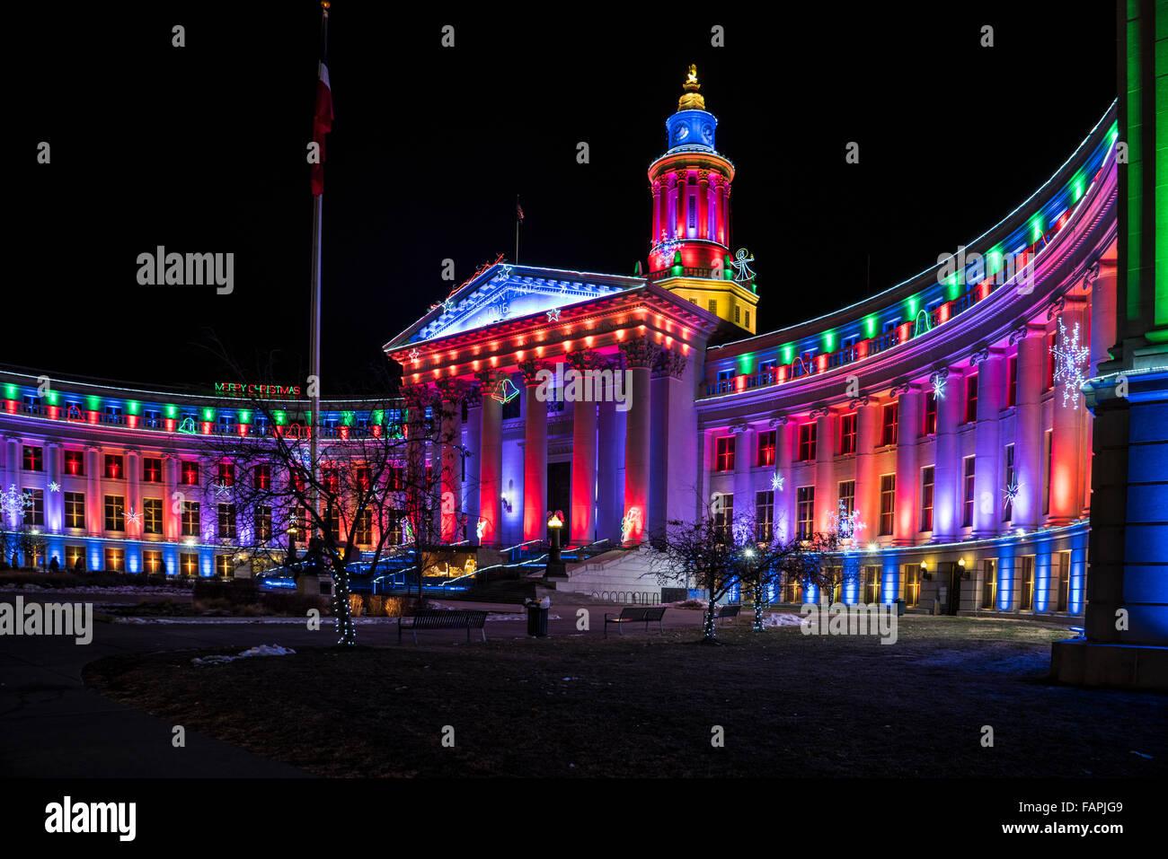 Christmas Lights On The Denver Colorado City And County