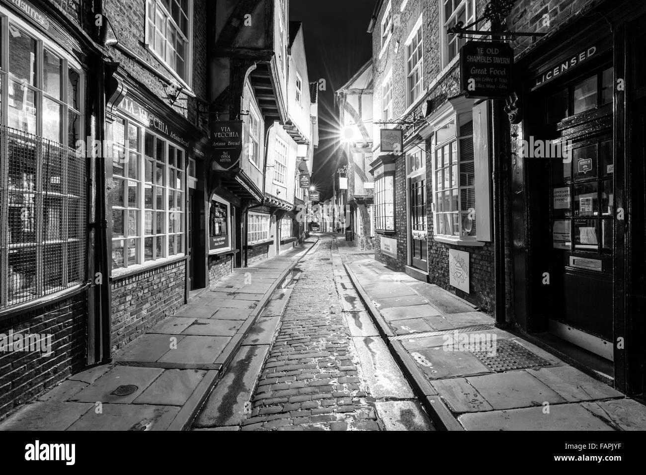 The Shambles, York City Centre - Stock Image
