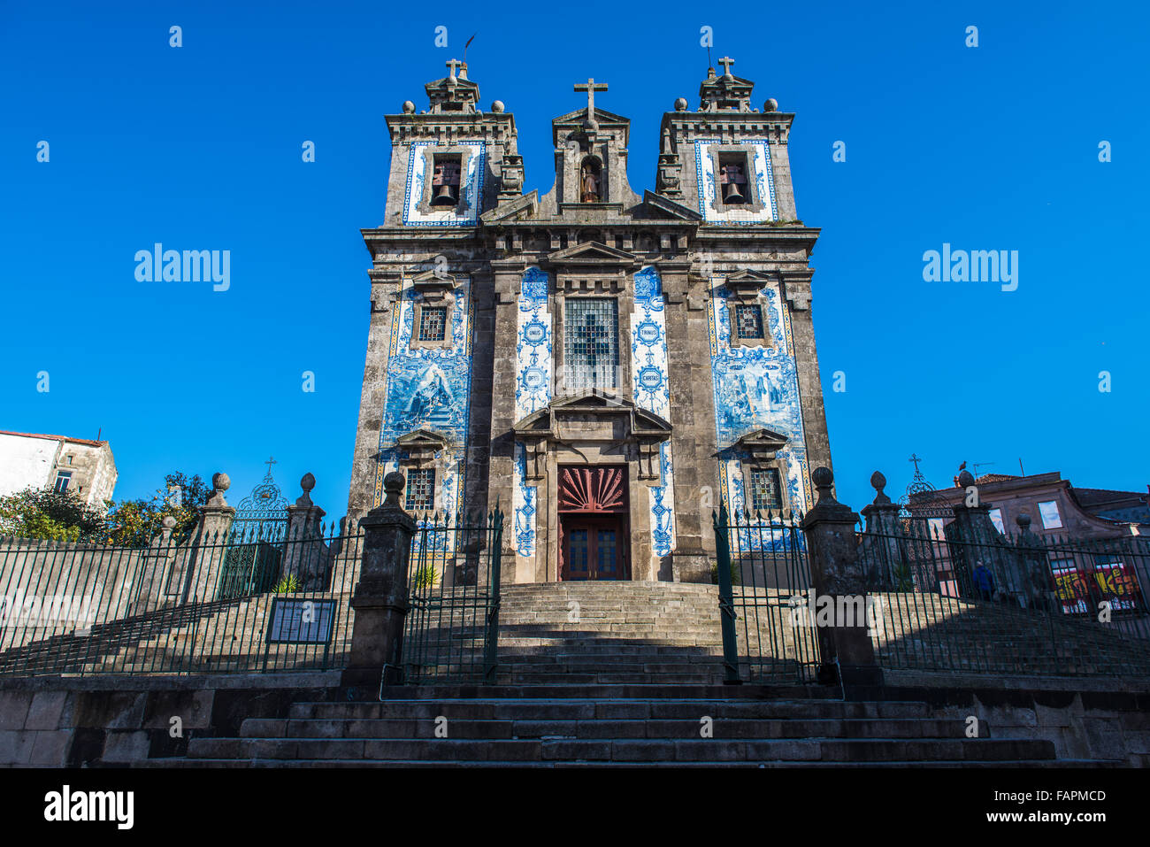 The Church of Santo Ildefonso in Porto, built in the XVII century - Stock Image