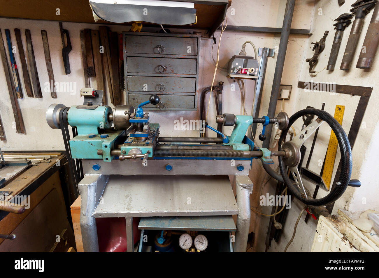 Real Domestic Diy Home Workshop Full Of Tools Untidy
