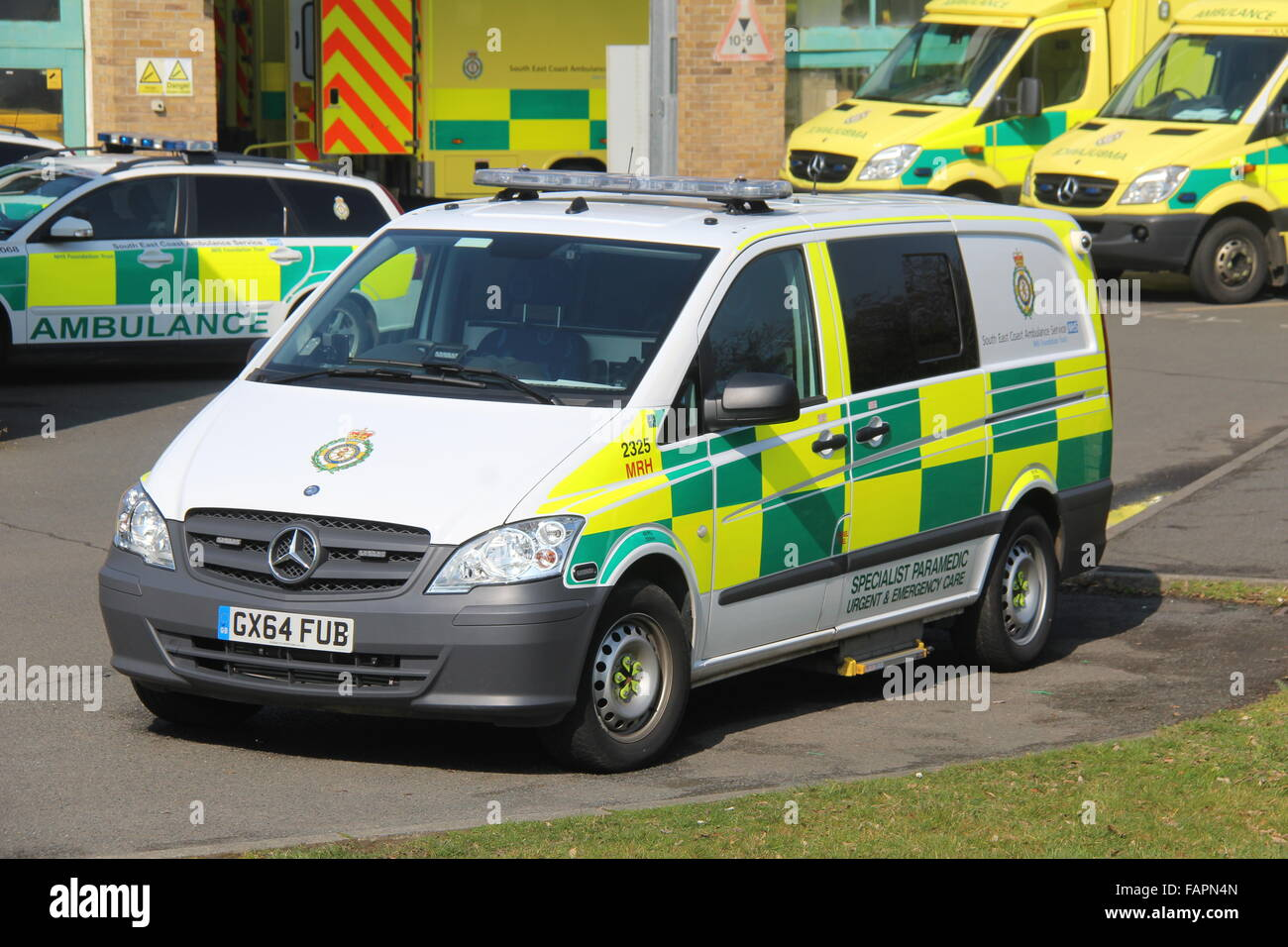 SOUTH EAST COAST AMBULANCE SERVICE SPECIALIST PARAMEDIC VEHICLE - Stock Image
