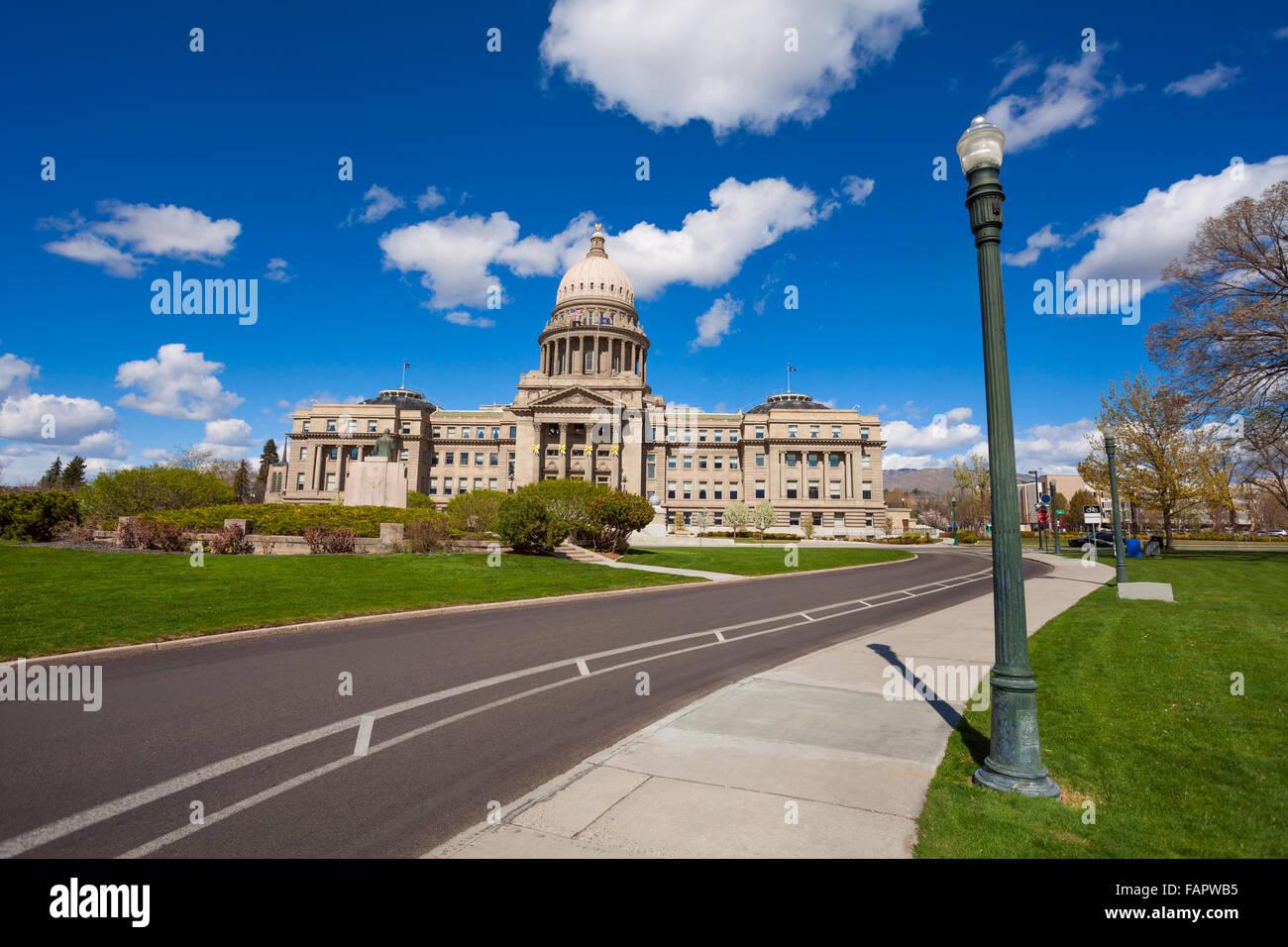 Boise, Idaho USA capitol boulevard building - Stock Image