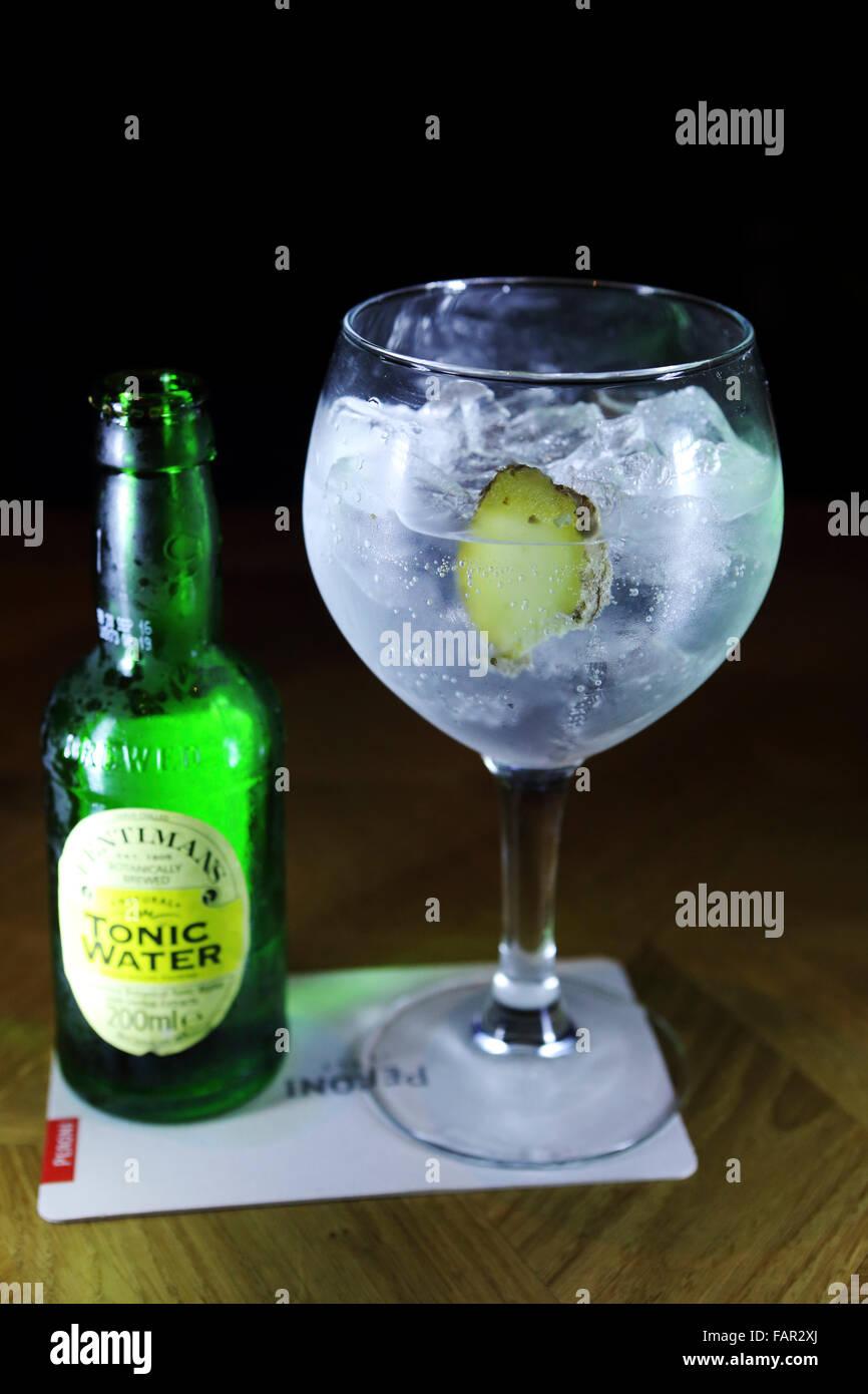 gin bottle stock photos gin bottle stock images alamy. Black Bedroom Furniture Sets. Home Design Ideas