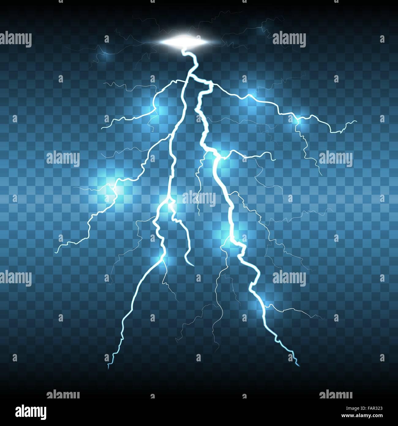 lightning flash strike transparent background stock vector art