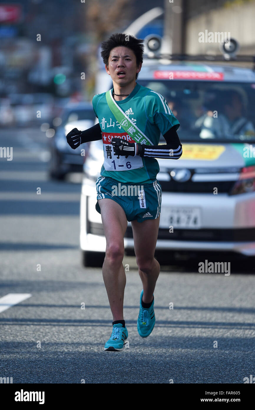 Yuji Onoda, JANUARY 3, 2016 - Athletics : The 92nd Hakone Ekiden, Tokyo-Hakone Round-Trip College Ekiden Race, 6th - Stock Image