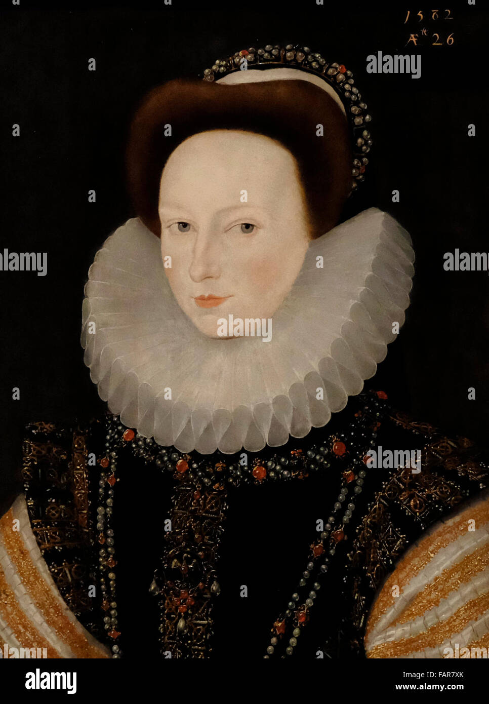 Anne Knollys - Robert Peake, circa 1582 - Stock Image