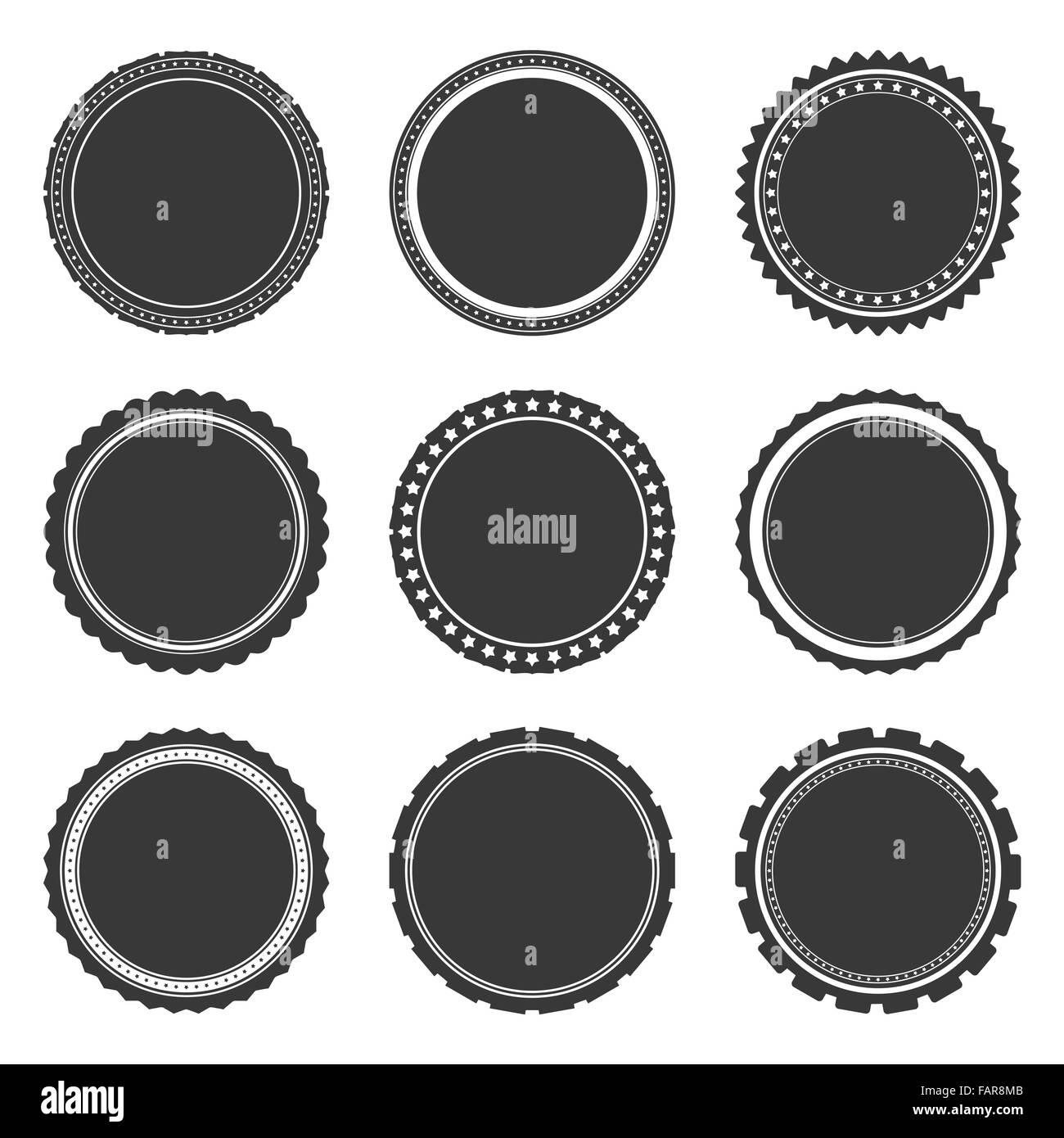 Empty Stamp Label Icon Vector Black and White Stock Photos & Images ...
