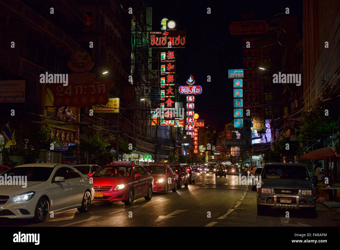 Chinatown at night, Bangkok, Thailand - Stock Image
