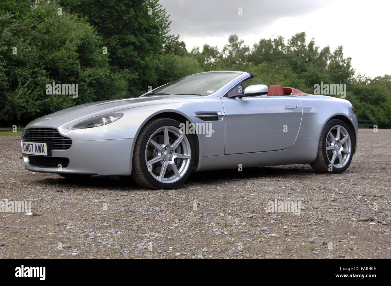 2007 Aston Martin Vantage Convertible Super Car Stock Photo Alamy