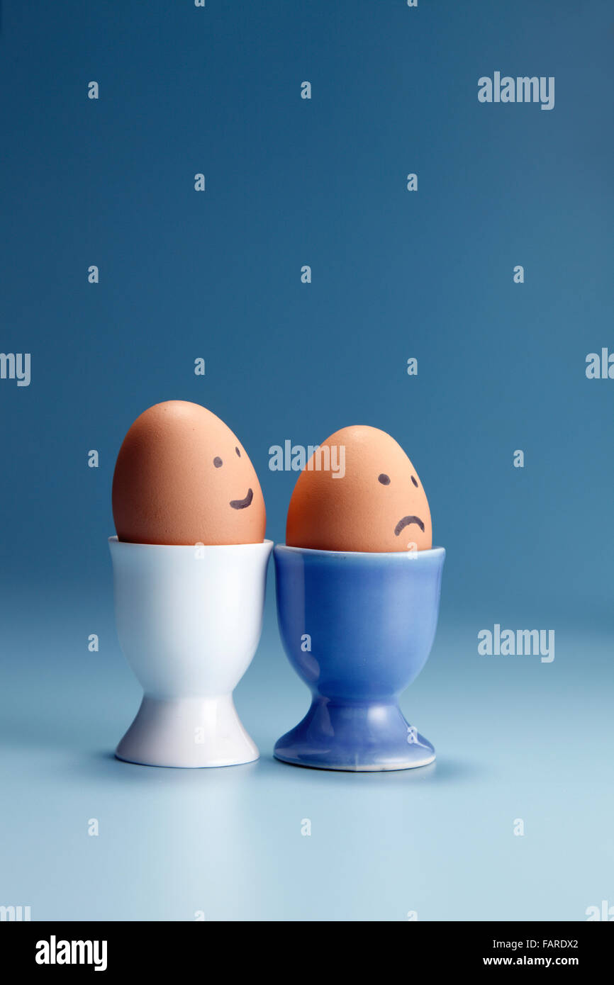egg with funny face on the egg cup Stock Photo: 92714218 - Alamy
