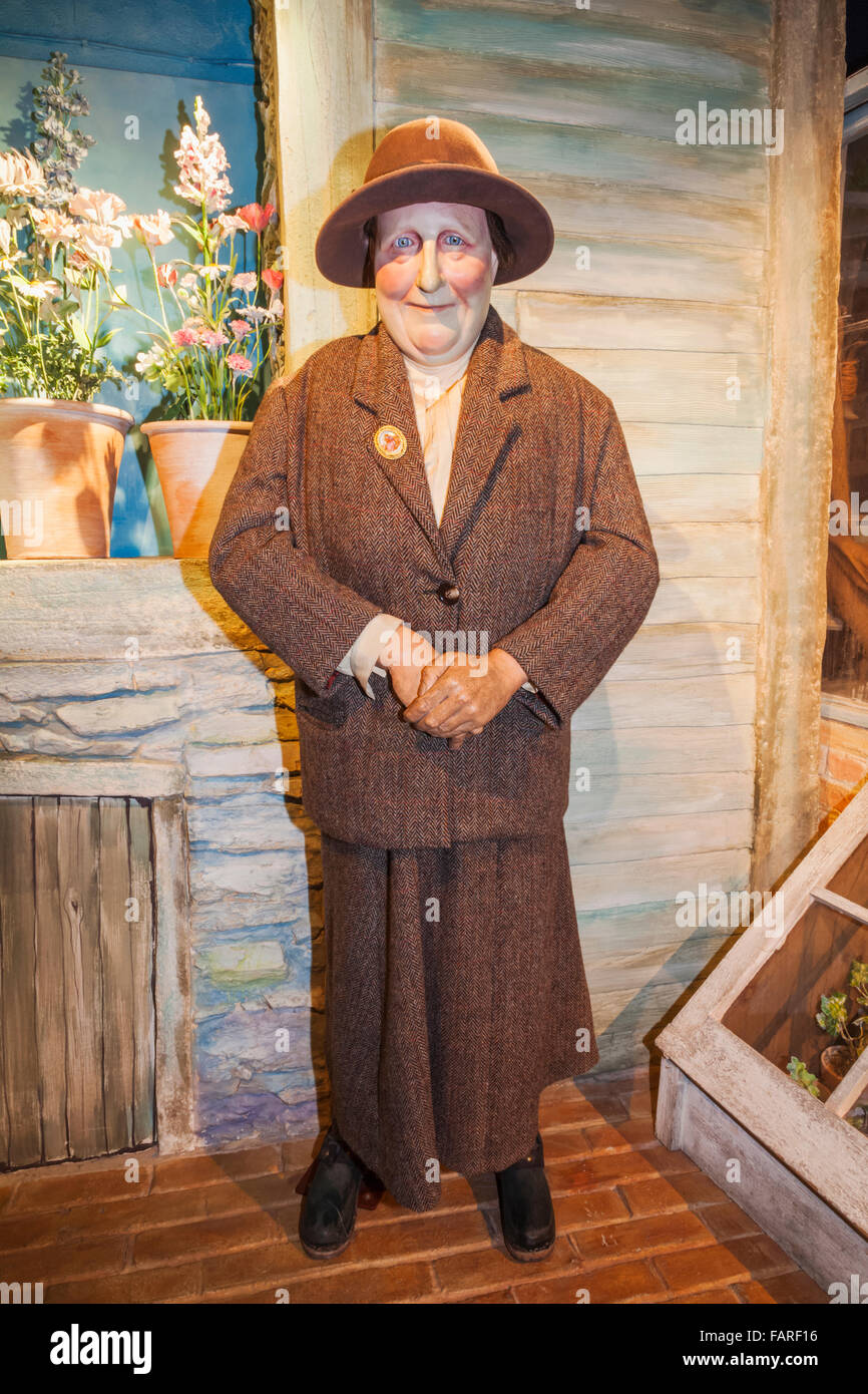 England, Cumbria, Lake District, Bowness-on-Windermere, The World of Beatrix Potter Attraction, Wax Figure of Beatrix - Stock Image