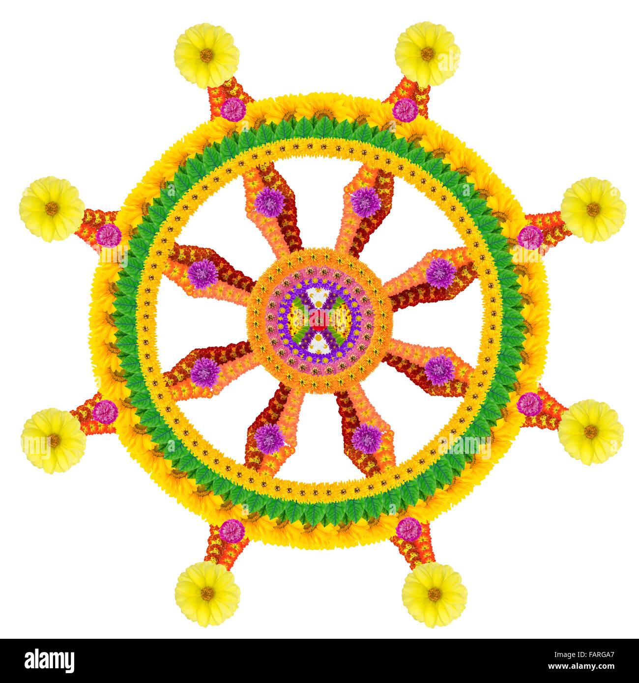 Wheel Dharma Symbol Buddhism Stock Photos Wheel Dharma Symbol