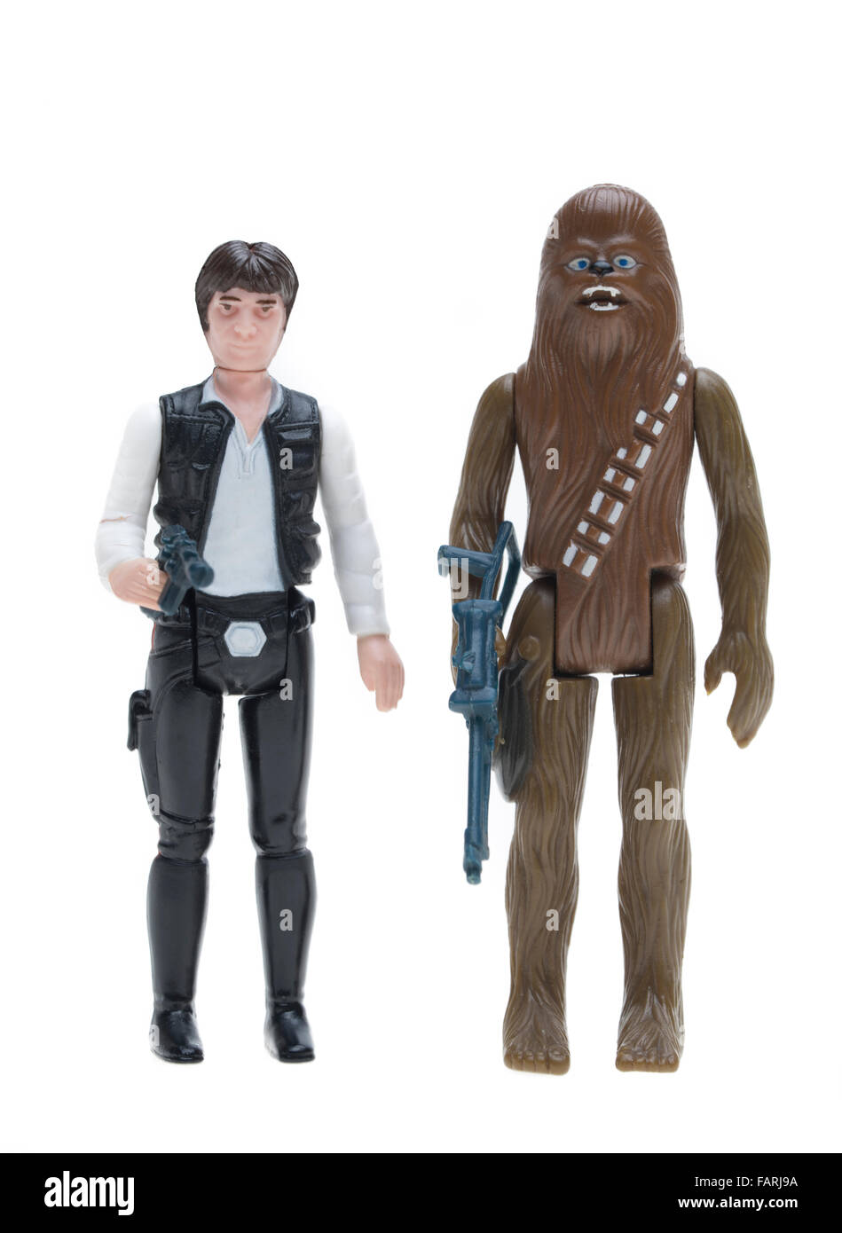 Star Wars action figures by Kenner 1977  Han Solo, - Stock Image