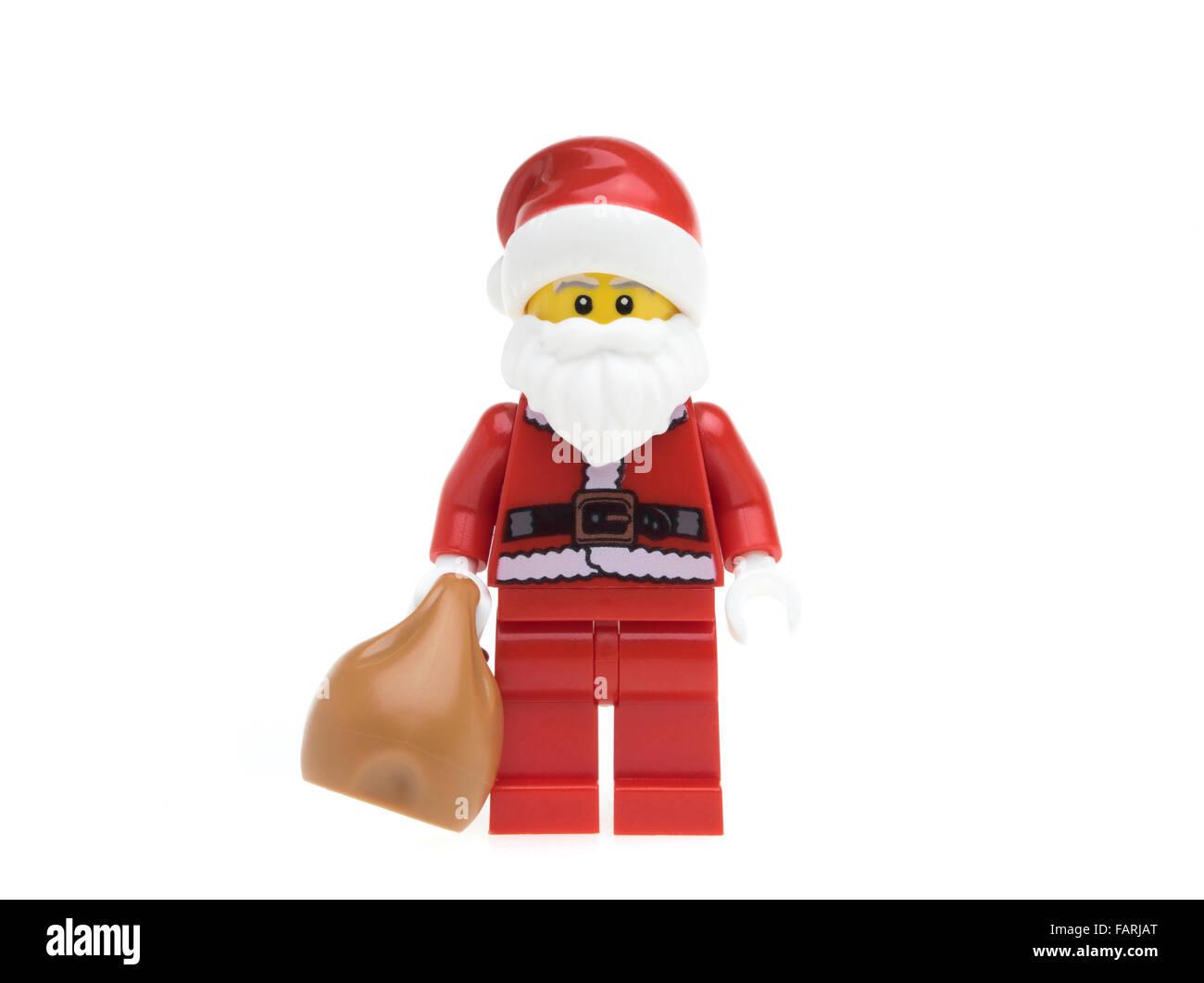 Lego Santa Claus Father Christmas minifigure - Stock Image 4d6f29ef7