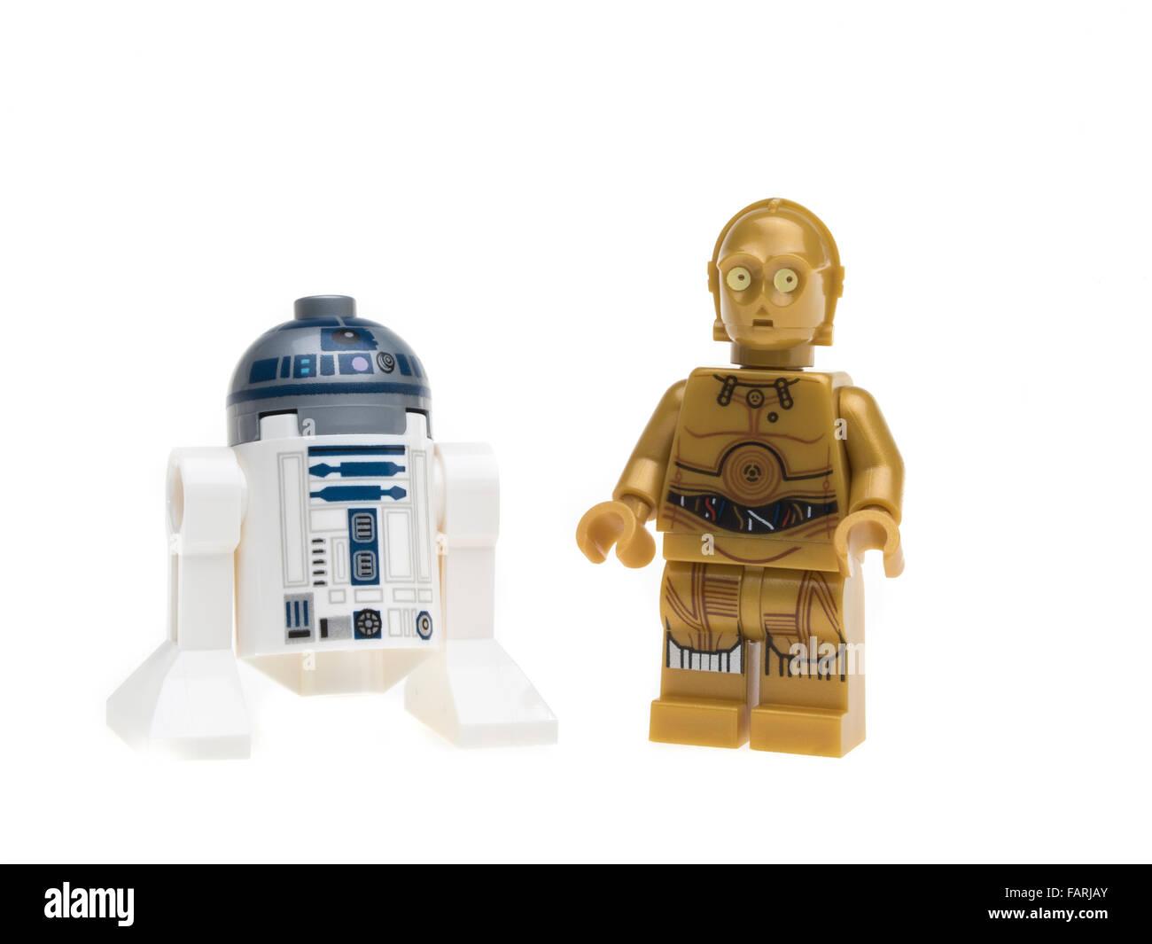 Lego Star Wars R2-D2 C-3P0 minifigure - Stock Image