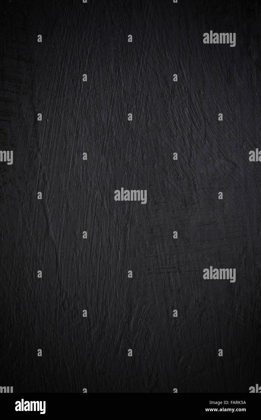 black abstract background or paint scratched texture - Stock Image