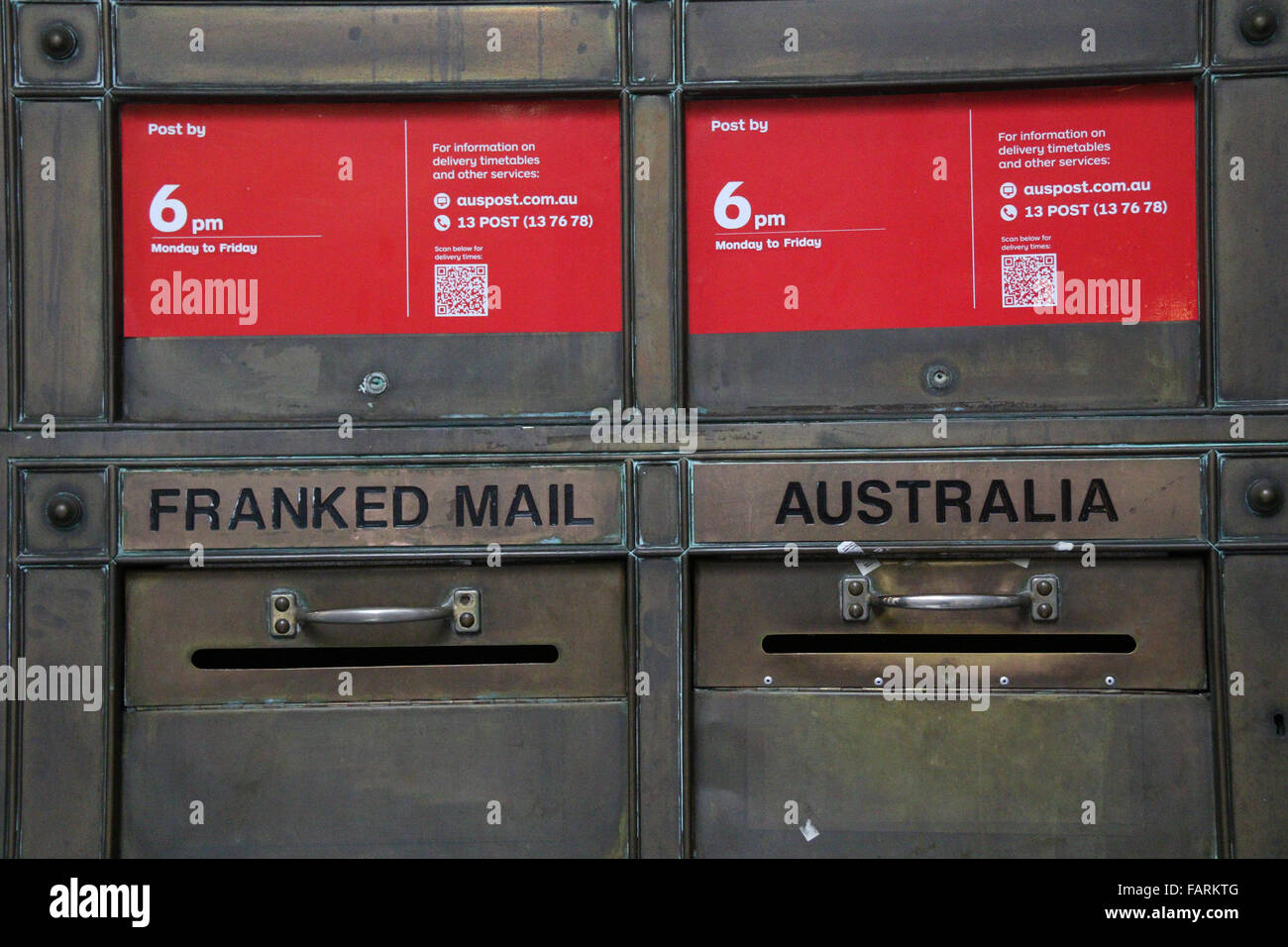 Australia Post Office Letter Boxes Stock Photos & Australia