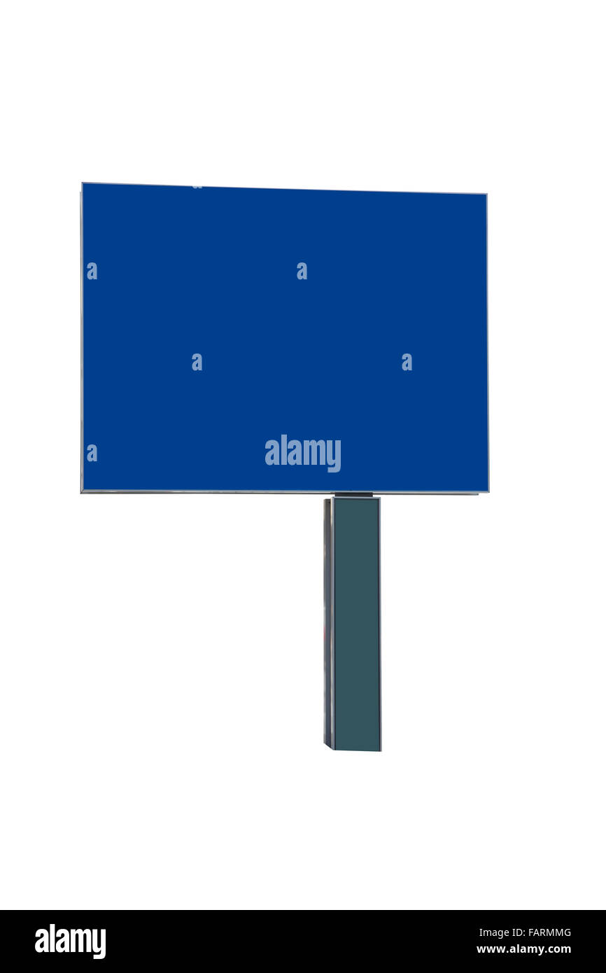 Street sign blank for copy space with clipping path - Stock Image